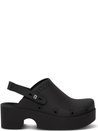 Xocoi Black Recycled Rubber Clogs With Logo