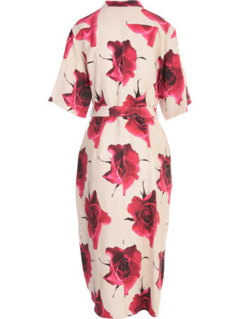 Paul Smith 3/4s Dress W/flowers Printing Belt