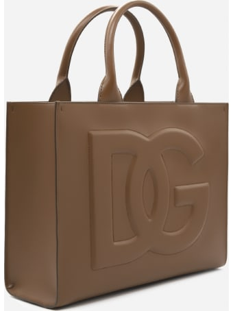 Dolce & Gabbana Beatrice Tote Bag In Leather With Embossed Monogram