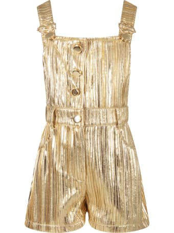 Le Gemelline by Feleppa Gold Overall For Girl
