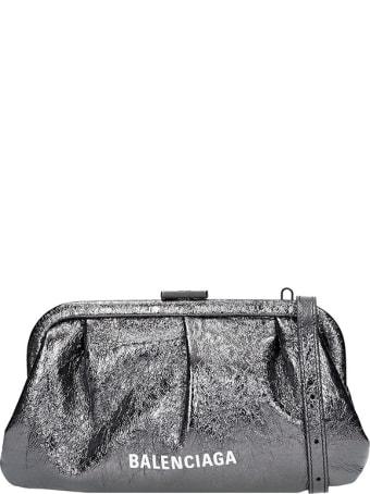 Balenciaga Cloud Clutch Xs Clutch In Black Leather
