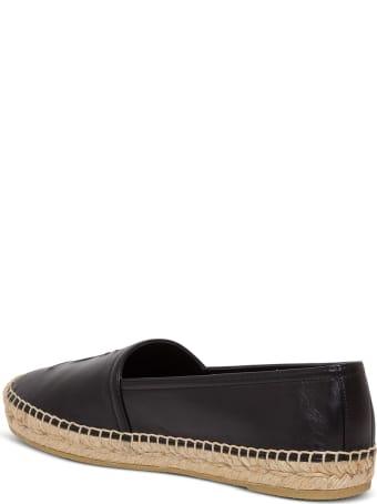 Saint Laurent Flat Heel Leather Up Espadrillas