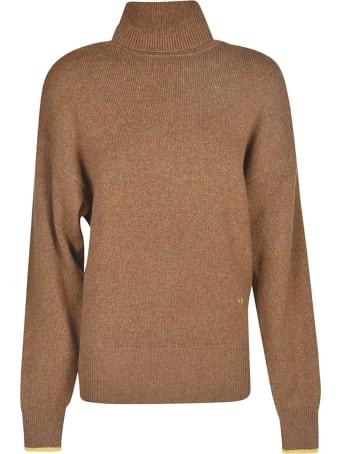 Victoria Beckham Embroidered Turtleneck Sweater