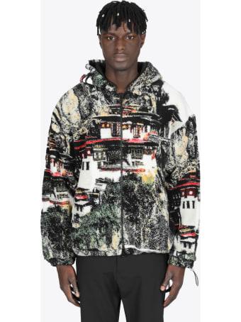Bonsai Multicolor Pagoda Fleece Hooded Jacket