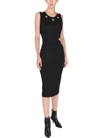 Dolce & Gabbana Long Skirt With Logo