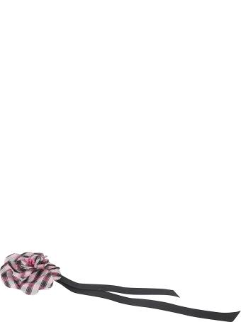 Philosophy di Lorenzo Serafini Bow Detail Check Floral Brooch