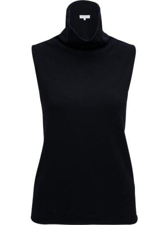 Antonelli Sleeveless Black Wool Turtleneck