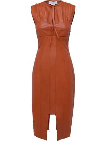 Genny Leather Cocktail Dress