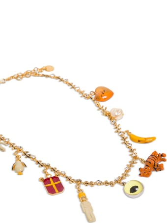 Marni Brass Necklace With Pendant Details