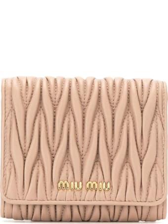 Miu Miu Matelasse Mini Wallet
