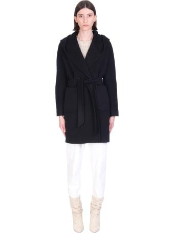 Tagliatore 0205 Chelsey Coat In Black Wool