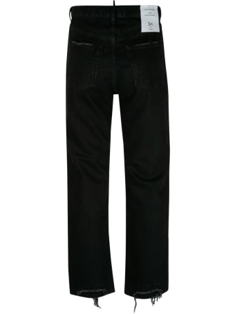 3x1 Logo Patched Straight Leg Jeans