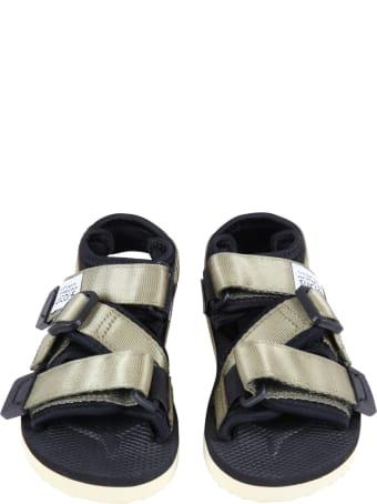 "SUICOKE Multucolor  ""kisee "" Sandals For Kids With Logo"