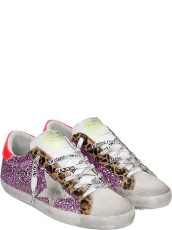 Golden Goose Superstar Sneakers In Fuxia Glitter