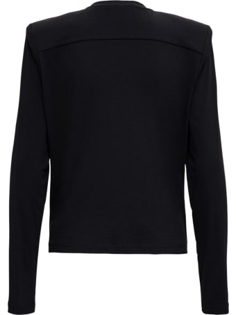 Federica Tosi Black Long Sleeved T-shirt With Padded Straps