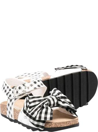 Monnalisa Check Sandals