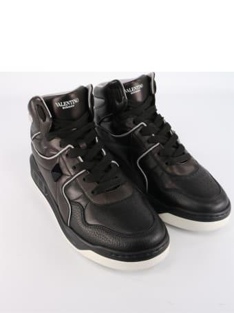 Valentino Garavani Sneakers Mid-top One Stud In Leather