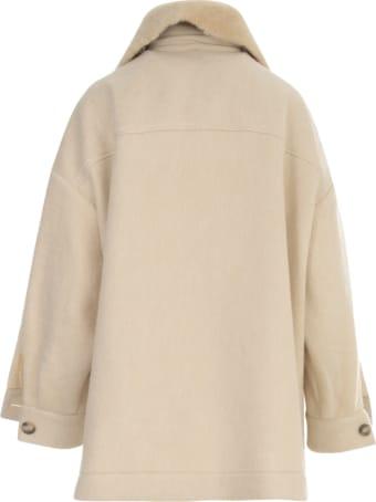 Ava Adore Jacket Style Shirt W/sheepskin Pockets And Collar