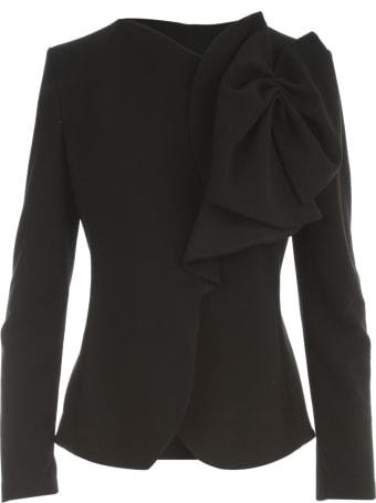 Emporio Armani Jersey Jacket W/knot On Shoulder