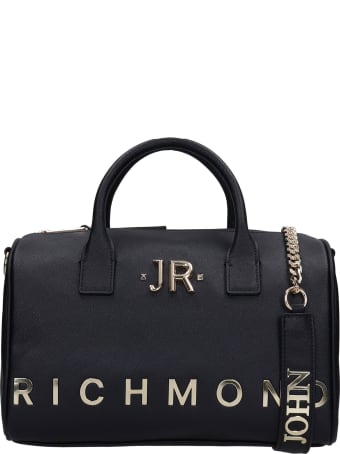 John Richmond Astanki Hand Bag In Black Polyuretan