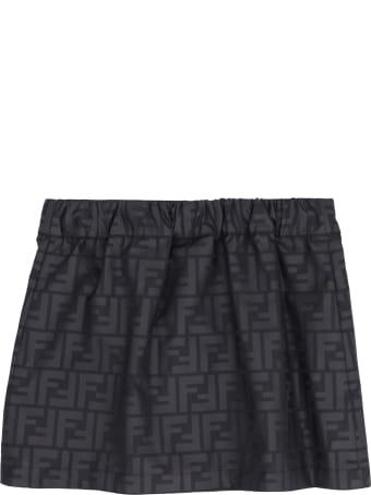 Fendi Buttoned Printed Skirt
