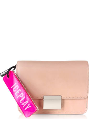 Ice Iceberg Ice Play Flap-top Shoulder Bag W/fluo Signature Tag