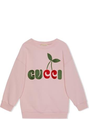 Gucci Children's Gucci Cherry Print Cotton Dress