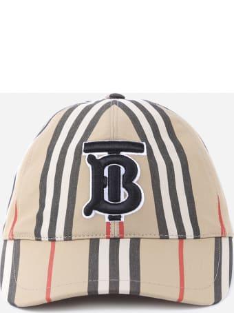Burberry Baseball Cap With Monogram Motif