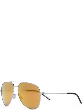 Saint Laurent Silver And Orange Classic 11 Sunglasses