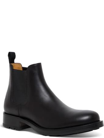Valentino Garavani Roman Stud Ankle Boots In Black Leather