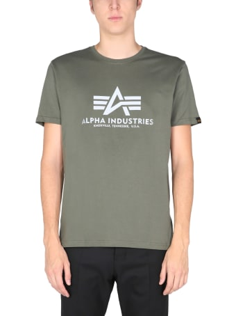 Alpha Industries T-shirt With Laminated Logo
