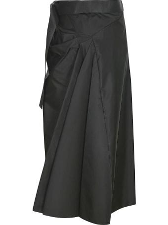 Prada Asymmetric Long Skirt