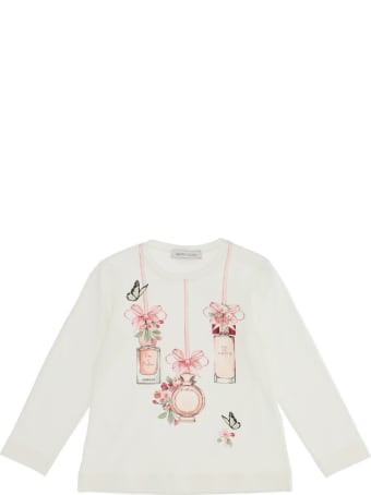 Monnalisa Long-sleeved Jersey T-shirt With Print