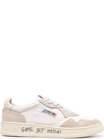 """Autry """"game Set Match"""" Leather Sneakers"""