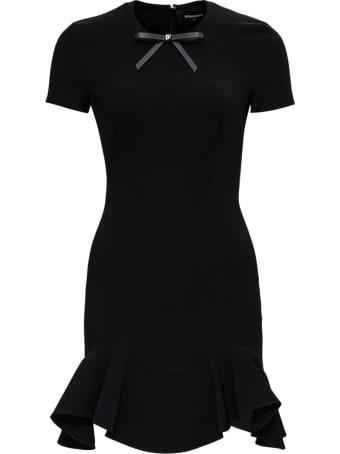 Dsquared2 Short Asymmetrical Black Dress