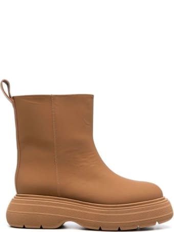 GIA BORGHINI Short Rubber Boot With A Chunky Sole