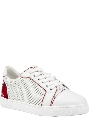 Christian Louboutin White Leather Fun Vieira Sneakers