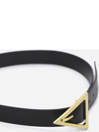 Bottega Veneta Leather Belt With Triangular Buckle