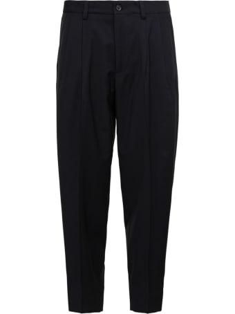 Dolce & Gabbana Black Cotton Tailored Pants