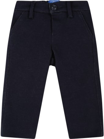 Fay Blue Trousers For Baby Boy With Blue Logo