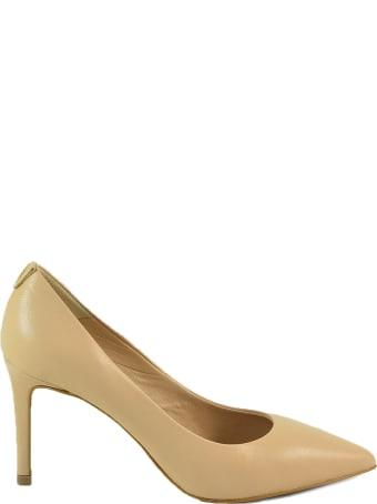 Patrizia Pepe Beige Leather High Heel Pumps