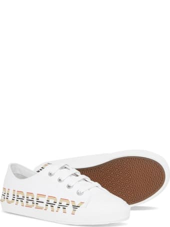 Burberry Larkhall Sneakers In Fabric With Logo Print