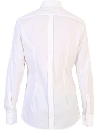 Dolce & Gabbana White Stretch Shirt