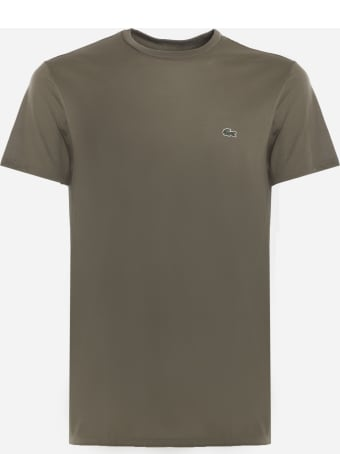 Lacoste Cotton Jersey T-shirt With Embroidered Logo