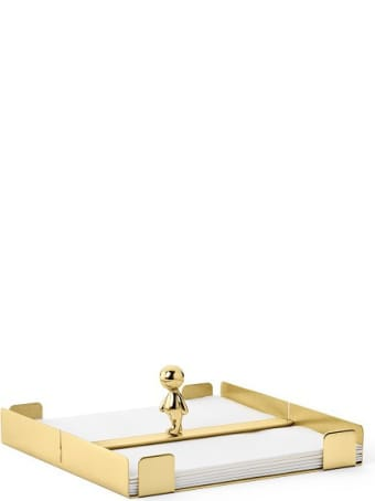 Ghidini 1961 Omini - The Walkman Napkins Tray Polished Brass
