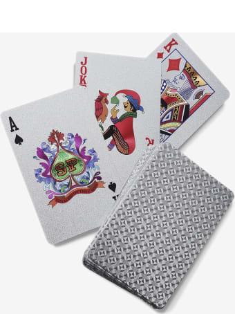 """Larusmiani Silver Plated Card Deck """"royale-les-eaux"""""""