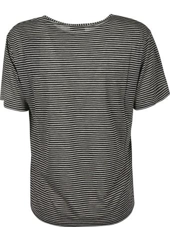 Saint Laurent Patched Pocket Stripe T-shirt