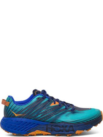 Hoka One One Speedgoat Blue Sneaker With Logo