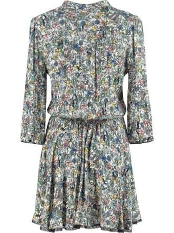 Zadig & Voltaire Raspail Gathered Printed Dress