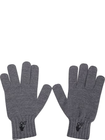 Off-White Hand Off Wool Gloves